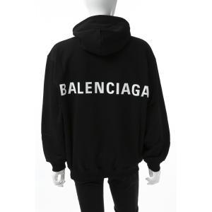 バレンシアガ BALENCIAGA トレーナー プルオーバーパーカー フーディー スウェット メンズ 556143 TAV37 ブラック 2019年春夏新作|diffusion