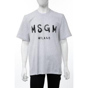 エムエスジーエム MSGM Tシャツ 半袖 丸首 クルーネック メンズ 2740MM97 195796 グレー 2019年秋冬新作 diffusion