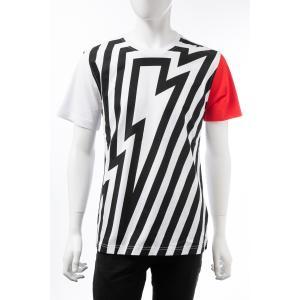 ハイドロゲン HYDROGEN Tシャツ 半袖 丸首 クルーネック メンズ 250632 ホワイト×ブラック 2019年秋冬新作 diffusion