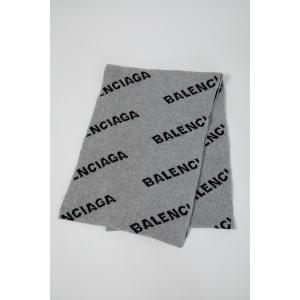 バレンシアガ BALENCIAGA マフラー ストール 558951 T1471 グレー 2019年秋冬新作|diffusion