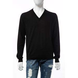 バレンシアガ BALENCIAGA セーター ニット 長袖 Vネック メンズ 583115 T1439 ブラック 2019年秋冬新作|diffusion|02