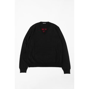 バレンシアガ BALENCIAGA セーター ニット 長袖 Vネック メンズ 583115 T1439 ブラック 2019年秋冬新作|diffusion|03