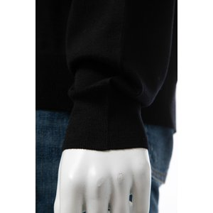 バレンシアガ BALENCIAGA セーター ニット 長袖 Vネック メンズ 583115 T1439 ブラック 2019年秋冬新作|diffusion|06