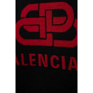 バレンシアガ BALENCIAGA セーター ニット 長袖 Vネック メンズ 583115 T1439 ブラック 2019年秋冬新作|diffusion|09