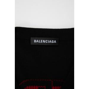 バレンシアガ BALENCIAGA セーター ニット 長袖 Vネック メンズ 583115 T1439 ブラック 2019年秋冬新作|diffusion|10
