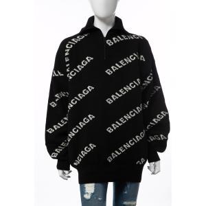 バレンシアガ BALENCIAGA セーター ニット 長袖 タートルネック ハイネック メンズ 555484 T1471 ブラック×ホワイト 2019年秋冬新作 diffusion