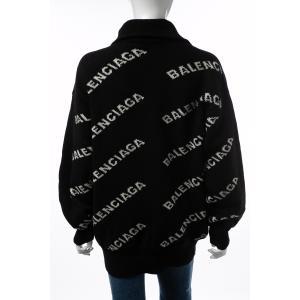 バレンシアガ BALENCIAGA セーター ニット 長袖 タートルネック ハイネック メンズ 555484 T1471 ブラック×ホワイト 2019年秋冬新作 diffusion 02