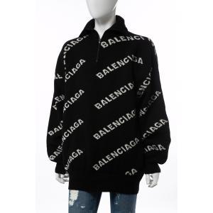 バレンシアガ BALENCIAGA セーター ニット 長袖 タートルネック ハイネック メンズ 555484 T1471 ブラック×ホワイト 2019年秋冬新作 diffusion 04