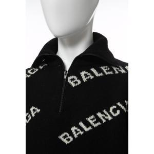 バレンシアガ BALENCIAGA セーター ニット 長袖 タートルネック ハイネック メンズ 555484 T1471 ブラック×ホワイト 2019年秋冬新作 diffusion 05
