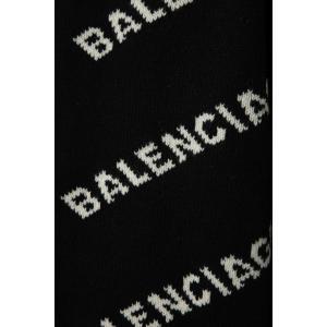 バレンシアガ BALENCIAGA セーター ニット 長袖 タートルネック ハイネック メンズ 555484 T1471 ブラック×ホワイト 2019年秋冬新作 diffusion 06