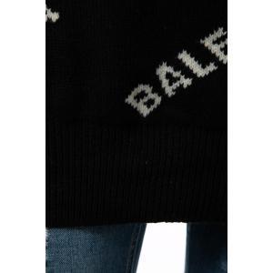 バレンシアガ BALENCIAGA セーター ニット 長袖 タートルネック ハイネック メンズ 555484 T1471 ブラック×ホワイト 2019年秋冬新作 diffusion 07