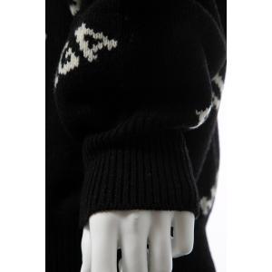 バレンシアガ BALENCIAGA セーター ニット 長袖 タートルネック ハイネック メンズ 555484 T1471 ブラック×ホワイト 2019年秋冬新作 diffusion 08