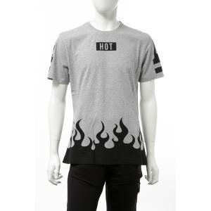 ハイドロゲン HYDROGEN Tシャツ 半袖 丸首 クルーネック メンズ 250618 グレー×ブラック 2019年秋冬新作 diffusion