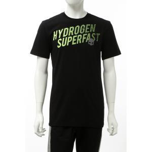 ハイドロゲン HYDROGEN Tシャツ 半袖 丸首 クルーネック メンズ 265604 ブラック 2020年春夏新作|diffusion