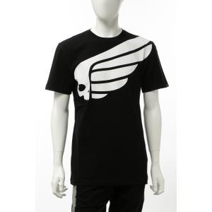ハイドロゲン HYDROGEN Tシャツ 半袖 丸首 クルーネック メンズ 265608 ブラック×ホワイト 2020年春夏新作|diffusion