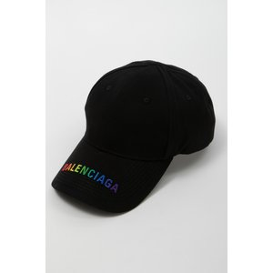 バレンシアガ BALENCIAGA キャップ ベースボールキャップ 帽子 564206 410B2 ブラック 2020年春夏新作|diffusion
