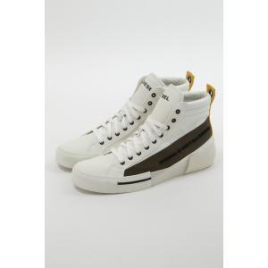 ディーゼル DIESEL スニーカー ハイカット シューズ 靴 S-DESE MC - sneaker mid メンズ Y01914 P2165 ホワイト|diffusion