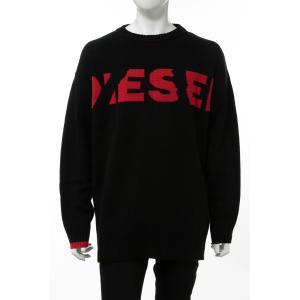 ディーゼル DIESEL セーター ニット 丸首 クルーネック K-LOGOXNEW PULLOVER メンズ 00SU97 RKAQR ブラック|diffusion