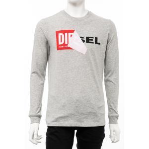 ディーゼル DIESEL ロングTシャツ ロンT 長袖 丸首 クルーネック T-DIEGO-QA-LONG MAGLIETTA メンズ 00S2GR R091B グレー|diffusion
