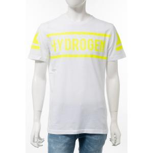 ハイドロゲン HYDROGEN Tシャツ 半袖 丸首 クルーネック メンズ 260624 ホワイト×イエロー 2020年春夏新作|diffusion