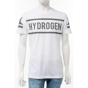 ハイドロゲン HYDROGEN Tシャツ 半袖 丸首 クルーネック メンズ 260624 ホワイト×グレー 2020年春夏新作|diffusion