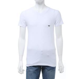 エンポリオアルマーニ Emporio Armani Tシャツアンダーウェア 半袖 Vネック メンズ 111810 CC729 ホワイト 2020年春夏新作|diffusion