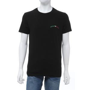 エンポリオアルマーニ Emporio Armani Tシャツアンダーウェア 半袖 丸首 クルーネック メンズ 110853 0P510 ブラック 2020年春夏新作|diffusion