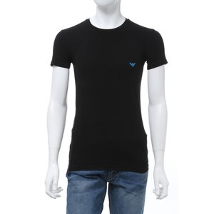エンポリオアルマーニ Emporio Armani Tシャツアンダーウェア 半袖 丸首 クルーネック メンズ 111035 0P725 ブラック 2020年春夏新作|diffusion