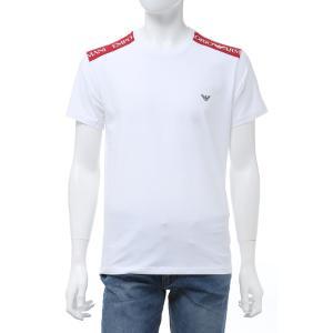 エンポリオアルマーニ Emporio Armani Tシャツ 半袖 丸首 クルーネック 水着 スイムウェア メンズ 211819 0P462 ホワイト 2020年春夏新作|diffusion