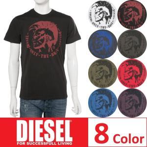 ディーゼル DIESEL Tシャツ 半袖 丸首 T-ULYSSE MAGLIETTA メンズ 00SFFC 0JAIL|diffusion