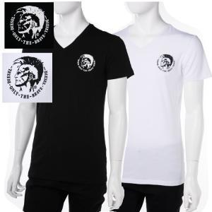 ディーゼル DIESEL Tシャツアンダーウェア Tシャツ 半袖 Vネック メンズ 00SHGU 0TANL|diffusion