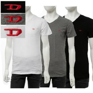 ディーゼル DIESEL Tシャツアンダーウェア 半袖 Vネック メンズ 00SHGU 0WAVC|diffusion