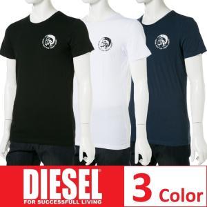 ディーゼル DIESEL Tシャツ アンダーウェア 半袖 丸首 クルーネック メンズ 00SJ5L 0TANL|diffusion