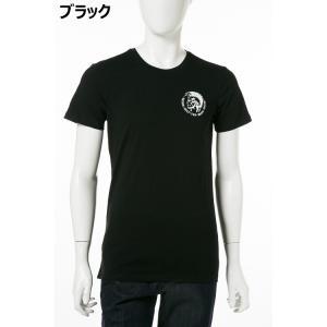 ディーゼル DIESEL Tシャツ アンダーウェア 半袖 丸首 クルーネック メンズ 00SJ5L 0TANL|diffusion|02