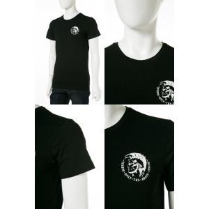ディーゼル DIESEL Tシャツ アンダーウェア 半袖 丸首 クルーネック メンズ 00SJ5L 0TANL|diffusion|03
