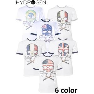 ハイドロゲン HYDROGEN Tシャツ 半袖 丸首 TENNIS テニス メンズ FR0077 HYD値下|diffusion