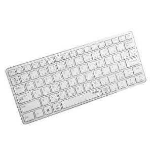 「1ヶ月レンタル」「取寄せ品」 rapoo E6350WH [ホワイト] Bluetooth ワイヤレス(無線) パンタグラフ 日本語81 15.5 デジコーデ|digi-coordi