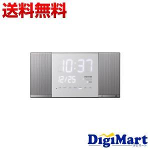 リズム時計 電波掛け置き兼用Bluetoothオーディオクロック TOKIOTO2 [シルバーメタリック] 8RZ183RH19|digimart-shop