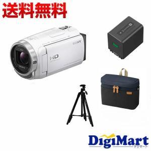 ソニー SONY HDR-CX680 (W) [ホワイト] ビデオカメラ + ソニー純正バッグ + ...