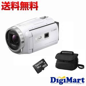 ソニー SONY HDR-PJ680 (W) [ホワイト] ビデオカメラ + ビデオカメラバッグ + 16GB micro SDカード お買い得セット【新品・国内正規品】(HDRPJ680)|digimart-shop
