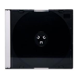 5mmスリムCDケース[PRO](1枚収納プラケース×50個)/ 黒 / 白 / シボクリア / ロゴ無・CDロゴ|digipropak