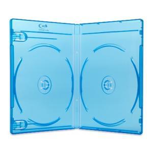 12.5mm2BDブルーレイケース(2枚収納プラケース×100個)/ スーパークリア / クリアブルー|digipropak