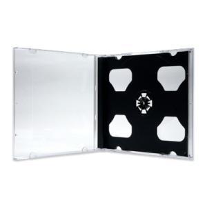 2CDジュエルケース(2枚収納プラケース×200個)/ 白 / 黒|digipropak