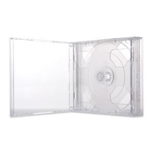 24mmマルチ4CDケース(4枚収納プラケース×100個)/ クリア|digipropak