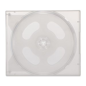 25mm8CDケースPP(8枚収納プラケース×40個)/ スーパークリア / パープル / カバーフィルム付|digipropak