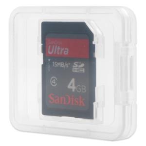 SDカードケース(SDカード1枚収納プラケース×100個)/ スーパークリア|digipropak