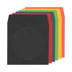 CD紙ケース厚手[業務用](スリーブケース×100枚)/ 黒 / 赤 / 青 / 緑 / 黄 / オレンジ|digipropak