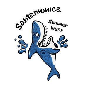 SANTAMONICA shark out of pocket tee サンタモニカ Tシャツ digit 02