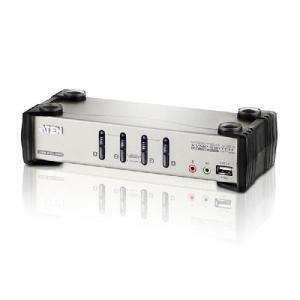 ATEN CS1734B 4ポートデュアルインターフェース対応 USB2.0KVMPスイッチ CPU切替器 (KVMスイッチ)|digital-gadget-geek