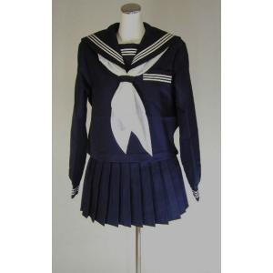 冬紺セーラー服の定番商品! 生地の厚い冬服セーラー服です。  セーラー服はサイドファスナー、袖はスナ...
